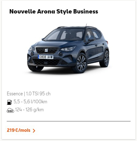 Nouvelle Arona Style Business